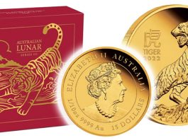 Perth Mint Coin Profiles - Australian Lunar Series III 2022 Year of the Tiger Gold Proof Coins
