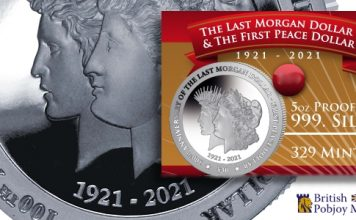 New 5oz Silver Coin Commemorates 100th Anniversary of Last Morgan, First Peace Dollars