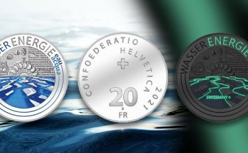 Hydropower! Colorized and Glow-in-the-Dark Swiss 20 Franc
