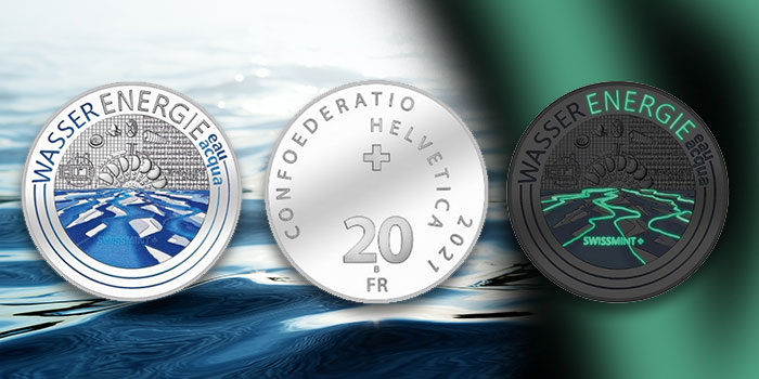 Hydropower! Colored and Glow-in-the-Dark Swiss 20 Franc