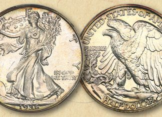 Scarce 1936 Walking Liberty Half Dollar Offered by David Lawrence Rare Coins