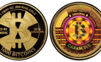 $48 Million Gold 1,000 Bitcoin Physical Coin Submitted by GreatCollections to PCGS