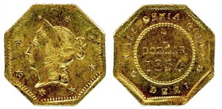 New 1854 Period 1 California Fractional Gold Dollar Variety Discovered