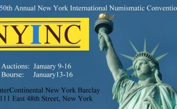 New York International Numismatic Convention Moves for January 2022 50th Annual Event