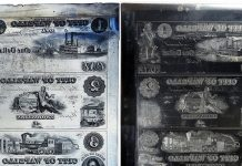 Printing Plates for Mid-1800s Banknotes Featured in Upcoming GreatCollections Sale