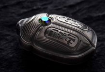 CIT Releases Silver Scarab Coin With Swarovski Crystal Honoring King Tut