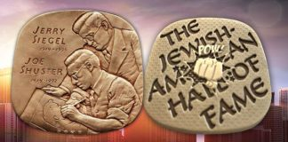 High Relief Medals, Induction Ceremony Honor Superman Creators Jerry Siegel and Joe Shuster