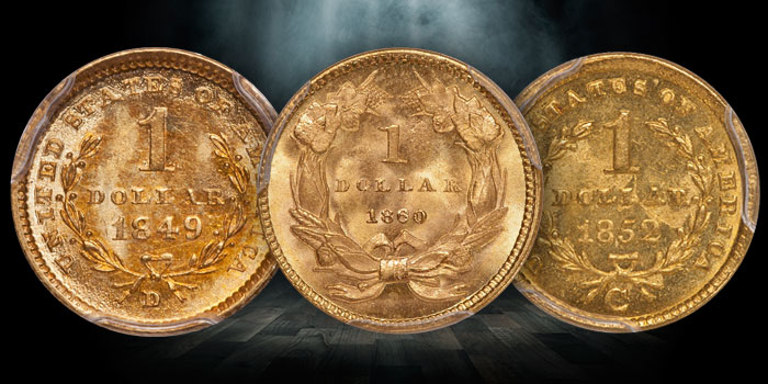 A Trio of Amazing Gold Dollars Recently Sold by Douglas Winter Numismatics (DWN)