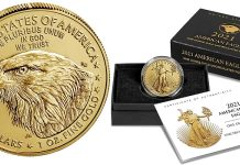 Redesigned 2021 American Gold Eagle 1oz Uncirculated Coin Available Now